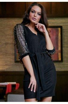 Блестящее черное платье