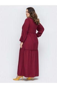 Платье-макси свободного кроя