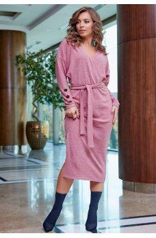 Соблазнительное платье розового цвета