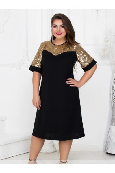 Черное нарядное платье 50 р.