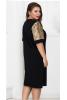 Черное нарядное платье 50 р. - фото 1