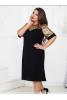 Черное нарядное платье 50 р. - фото 2