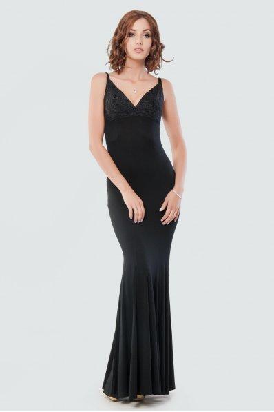 Вечернее черное платье годе