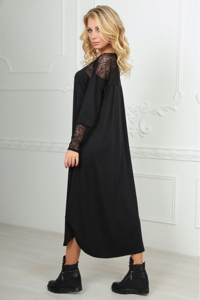 d8dcfa4262ea5e Чорне плаття оверсайз з гіпюром