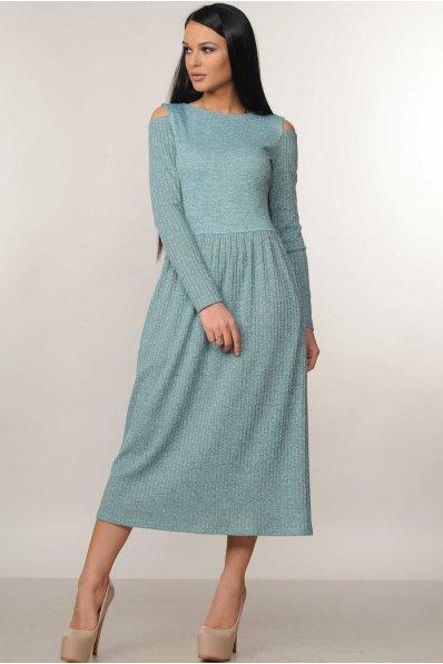 Чудесное платье миди с оголенными плечиками