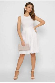 Белое легкое льняное платье