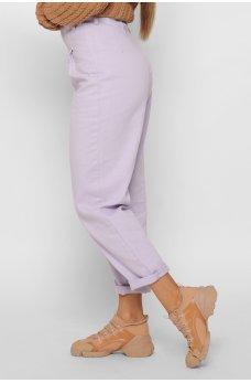 Сиреневые стильные джинсы-слоучи