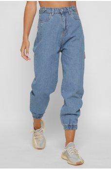 Голубые оригинальные джинсы-джоггеры