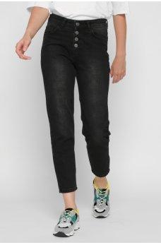 Черные оригинальные джинсы-мом