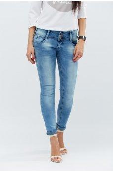 Голубые оригинальные обтягивающие джинсы-скинни