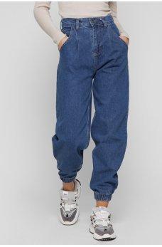 Синие изумительные джинсовые брюки