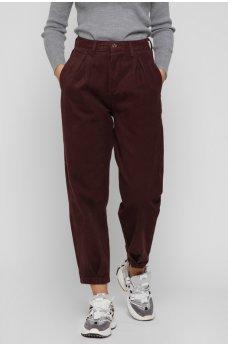 Коричневые универсальные джинсовые брюки