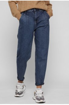 Темно-синие оригинальные джинсы на каждый день