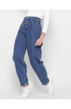 Синие джинсовые повседневные брюки мом