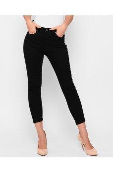 Черные гламурные зауженные джинсовые брюки скинни