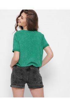 Темно-серые джинсовые шорты мини с карманами