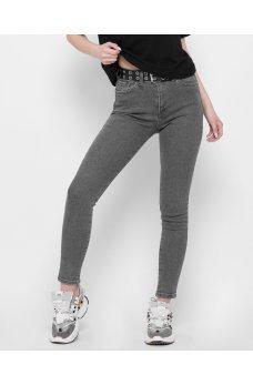 Темно-серые практичные джинсовые брюки скинни