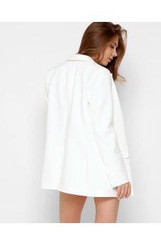 Элегантный сдержанный пиджак молочного цвета