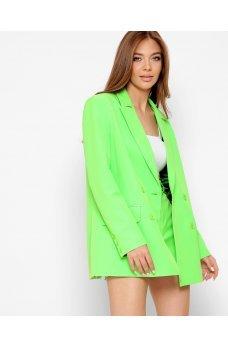 Салатовый трендовый женский пиджак