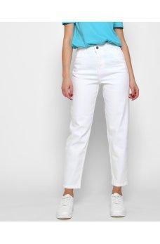 Белые зауженные джинсы слоучи