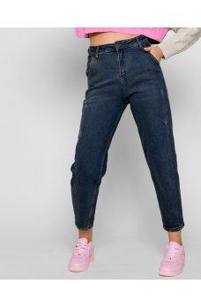 Синие женские гламурные джинсы слоучи