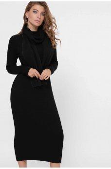 Облегающее платье из ангоры черного цвета