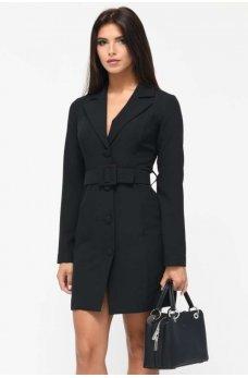 Черное классическое платье жакет