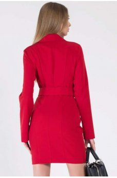 Красное классическое платье жакет