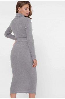 Стильное платье из ангоры серое