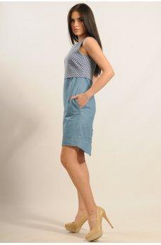 Джинсове плаття з планкою на спинці