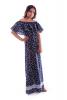 Длинное платье с принтом бабочки