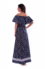 Длинное платье с принтом бабочки - фото 3
