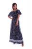 Длинное платье с принтом бабочки - фото 1