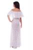Длинное белое платье с принтом якорь - фото 1