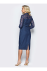 Джинсовое платье футляр - фото 1