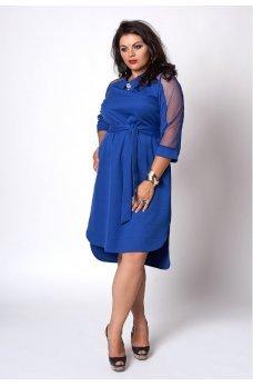 Элегантное синее платье большого размера