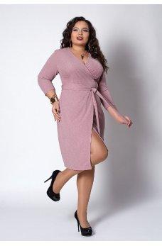 Люрексовое платье розового цвета
