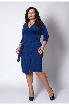 Люрексовое платье синего цвета