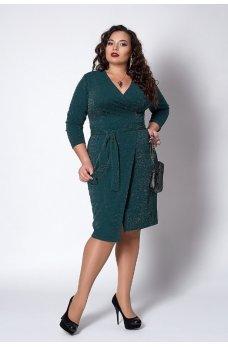 Люрексовое платье зеленого цвета