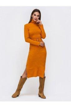 Платье хомут желтого цвета