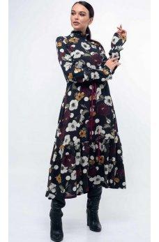 Стильное утонченное платье свободного силуэта