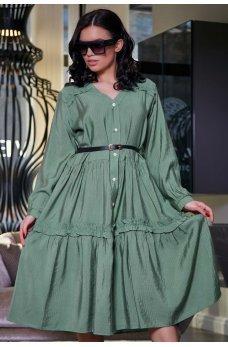Удивительно женственное платье зеленого цвета
