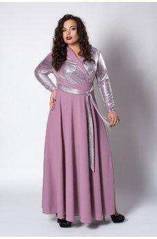 Вечернее платье фрезового цвета