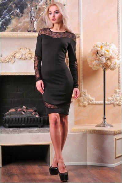 Елегантна сукня з фігурними вставками із гіпюру
