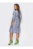 Практичное трикотажное платье с рукавами 3/4 - фото 1