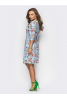 Женственное платье с ярким цветочным принтом - фото 1