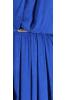 Длинное платье синий электрик - фото 1