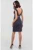 Коктейльное платье футляр серого цвета - фото 1