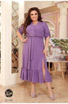 Фиолетовое красивое милое платье-рубашка