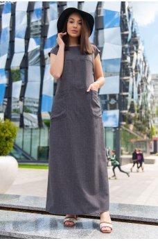 Графитовое универсальное летнее платье